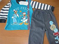 Детский костюм двойка Гуфи  полоска для мальчика 1-2 года Турция