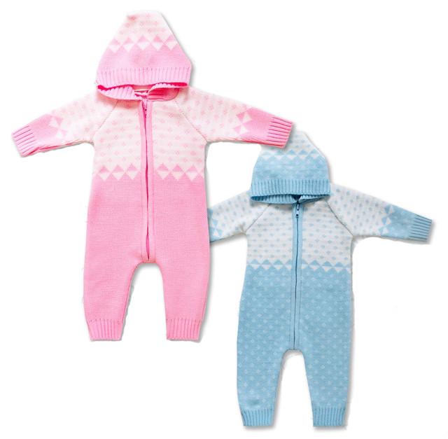 Вязаные комбинезоны для новорожденных