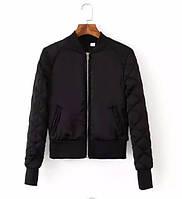 Куртка бомбер женская утепленная (черный), фото 1