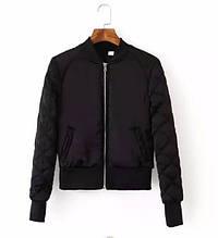Куртка бомбер женская  (черный)