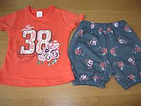 Детский летний костюм  розочки футболка+ шорты  для девочки 2  года Турция - пенье , фото 1