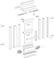 Алюминиевые системы для шкафов-купе KOMANDOR