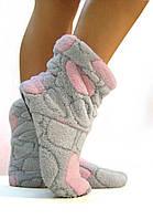 """Махровые тапочки-cапожки tm 01 """"Teddy"""" с розовым"""