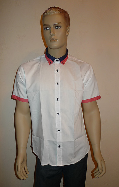 Белая приталенная сорочка Dergi