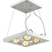 Светодиодная подвесная люстра, высота регулируется тросом, блок питания в комплекте, светодиоды CREE, гарантия