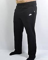 Штаны спортивные мужские трикотажные в больших размерах  Брюки мужские бренд  3 кармана - батал 56 Черный, фото 3