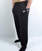 Штаны спортивные мужские трикотажные в больших размерах  Брюки мужские бренд  3 кармана - батал 56 Черный, фото 2