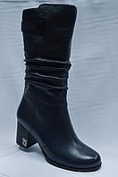 Темно-синие кожаные сапоги Malrostti.