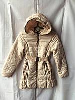 Куртка ветровка на девочку 6-10 лет,бежевая