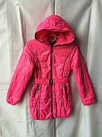 Куртка ветровка на девочку 6-10 лет,малиновая