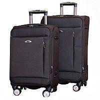 Элитный чемодан на колесиках двойка (Brown), 510432