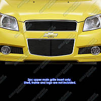 Декоративная решетка радиатора+бампера Chevrolet Aveo 09-, алюминий