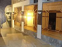 Зеркальные композиции на стене
