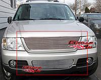 Декоративная решетка радиатора+бампера Ford Explorer '02-05, алюминий
