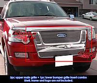 Декоративная решетка радиатора Ford Explorer '06-10, алюминий