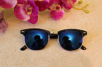 Солнцезащитные очки RAY BAN CLUBMASTER  (синие)
