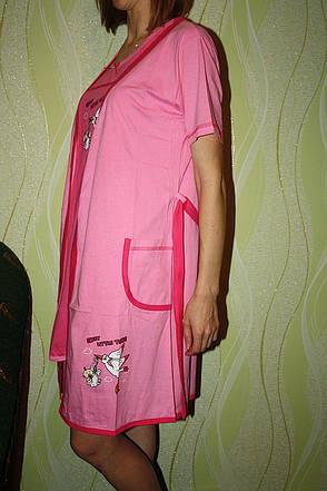 Комплект халат + ночная рубашка для кормящих, фото 2
