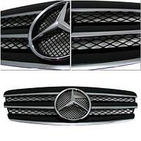 Декоративная решетка радиатора Mercedes E-Class '03-06 черная