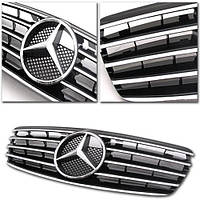 Декоративная решетка радиатора Mercedes E-Class W211 E320 E350 E500 '03-06 черная