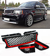 """Декоративная решетка радиатора+воздухозаборники в крылья Range Rover Sport,""""10-12"""
