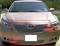 Декоративная решетка радиатора+бампера Toyota Camry '07-09, алюминий