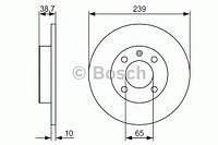 Гальмівний диск audi seat vw 80,cordoba, cordoba vario, ibiza, toledo, golf, caddy,jetta, passat, po (производство Bosch ), код запчасти: 0986479824