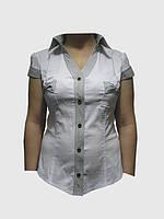 Блузка белая короткий рукав оптом р 40-50
