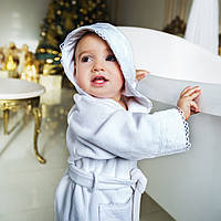 Детский махровый халат с кружевом Марипоза от Guddini от 0-12 месяцев