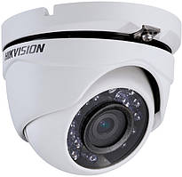 Відеокамера DS-2CE56C0T-IRM купольна на 1 МП Hikvision (2.8 мм) формату HD-TVI