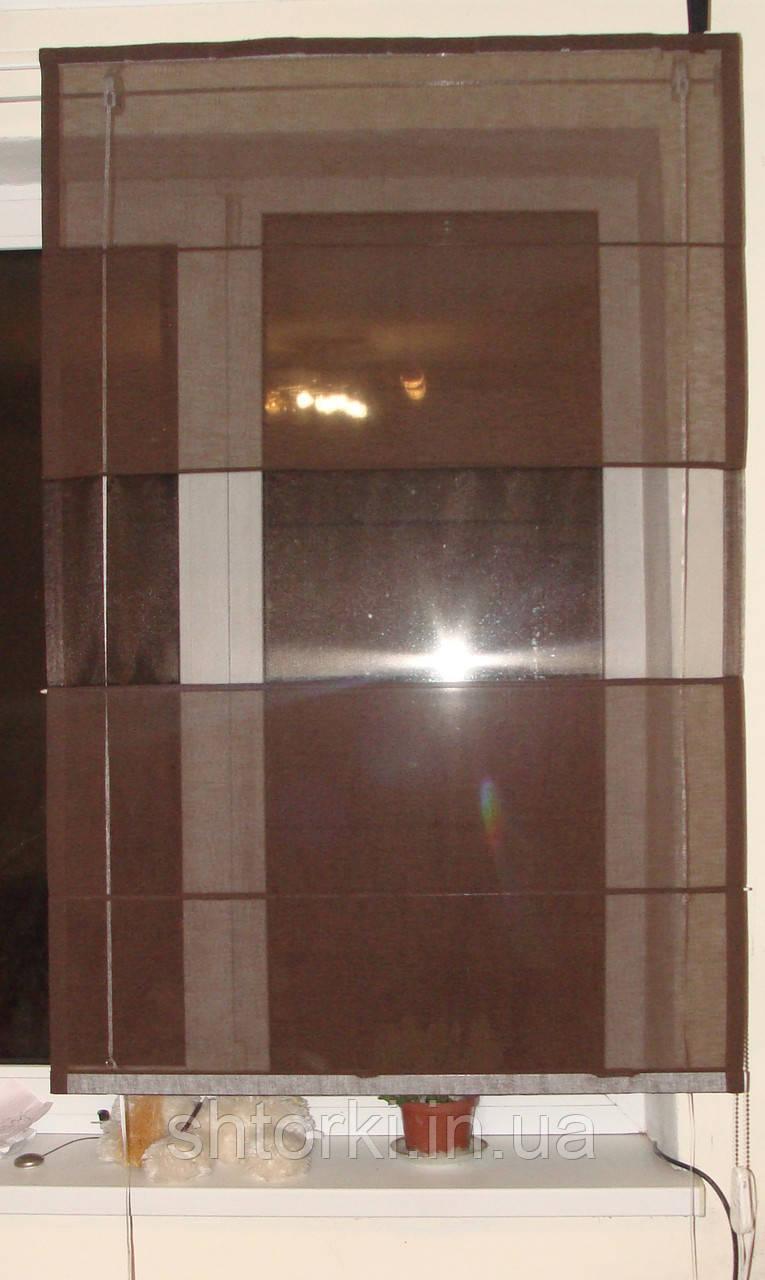 Римская штора Шоколад натуралка