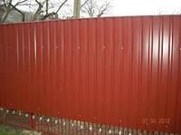 Профнастил стеновой ПС-8 красно-коричневый, тол. 0,45 мм