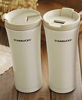 "ТТермос-чашка Starbucks ""Smart Cup"". 350мл. (Белый), фото 1"