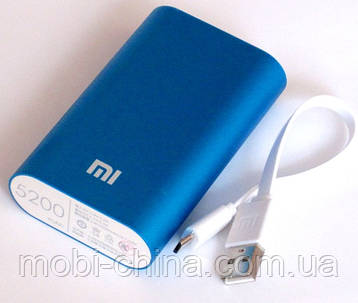 Универсальная батарея - Xiaomi power bank MI 2, 5200 mAh, blue, фото 2