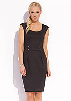 Женское летнее трикотажное платье черного цвета без рукава. Модель Kendra Zaps коллекция весна-лето 2016.