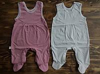 Ползунки с застежкой для новорожденных девочек 56 см и 62 см, фото 1