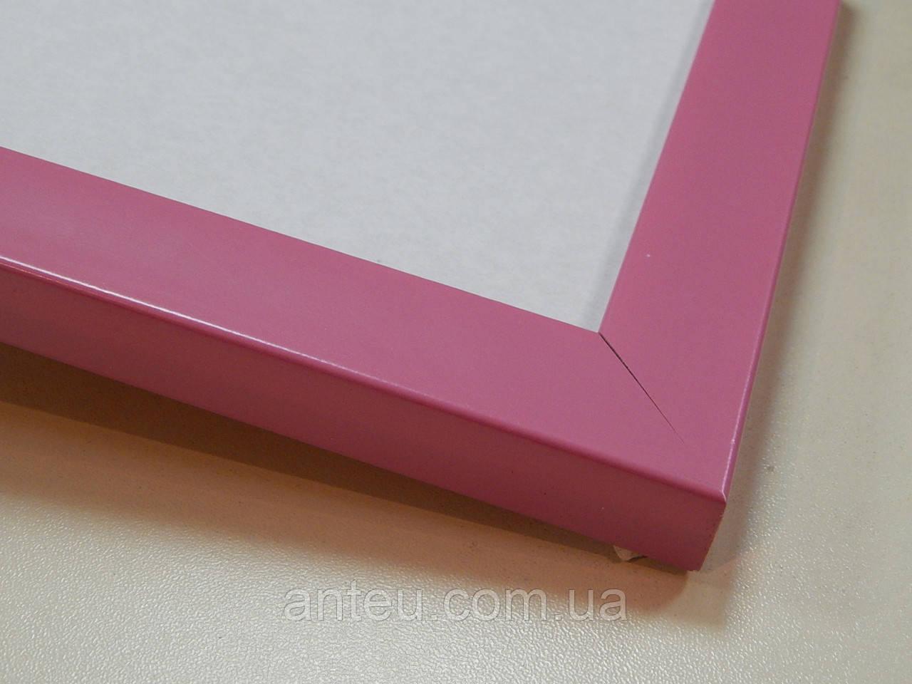 Рамка А4 (210х297).Профиль 22 мм.Розовый.Для фото.