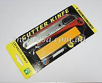 Нож канцелярский, универсальный,  18мм, с запасными лезвиями