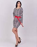 Элегантное женское платье из жаккарда с длинным рукавом