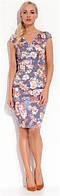 Платье женское до колена с цветочным узором без рукавов Zaps LENITA