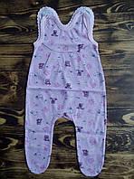 Летние ползунки для новорожденной девочки 56 см.