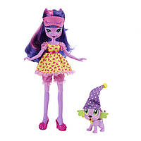 "My Little Pony Лялька ""Cутінкова Іскорка і дракончик Спайк""  (Twilight Sparkle &  Spike the puppy)"