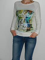 Женские регланы со стильным принтом Elle 2 цвета Shewky Турция  рр. S/M, L/XL
