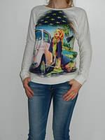 Женские регланы с модным принтом 2 цвета Shewky Турция  рр. S/M, L/XL
