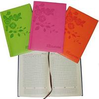 """Ежедневник  недатированный А5 клетка, """"Розы"""", салатовый, оранжевый, розовый, 8-1"""