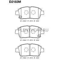 Колодка тормозная диск. передние Toyota Corolla (производство Kashiyama ), код запчасти: D2183M