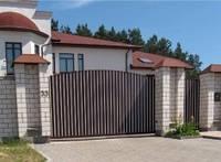 Откатные ворота ADS400 со сплошным алюминиевым заполнением, фото 1