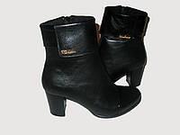 Полусапожки кожаные женские на маленьком каблуке 38