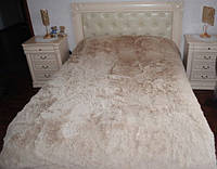 Покрывало на кровать с длинным ворсом цвет песочный 220х240, фото 1