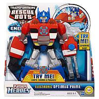 Transformers Электронная фигурка Бота Спасателя Playskool Heroes Rescue Bots Optimus Prime
