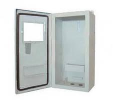 Ящик учета ЯУР-1Г-6Л, наружный под 1ф, с люком, 6 модулей, ШхВхГ 225х390х140, Билмакс